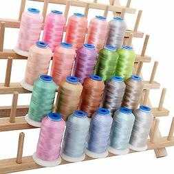 RAYON MACHINE EMBROIDERY THREAD SET 20 PASTEL COLORS - 1000M