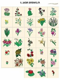 real FLOWERS 2. CARD machine embroidery designs jef files 4