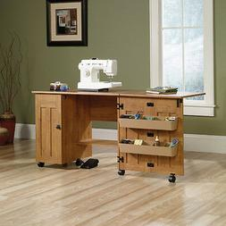 Rolling Sewing Machine Table Cabinet Station Sew Craft Desk