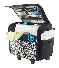 Everything Mary Cheetah Print Rolling Sewing Machine Tote -