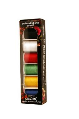 Brother SAEP706 6 Pack of Machine Embroidery Thread