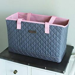 """Everything Mary  Sewing Machine Carry Tote-17""""X8""""X11"""" Grey P"""