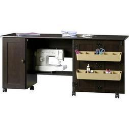 Sewing Machine Table Cabinet Desk Craft Storage Bins Dresser
