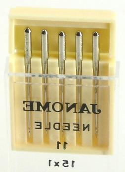 Janome Sewing Machine Universal Needle Size 11 in 5 needles