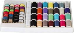 60 Piece Sewing Thread Kit For Sewing Machine, Mixed Colors