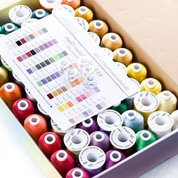 Simthread 40 Spools Polyester Embroidery Thread for Brother