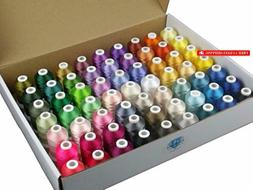 Simthread 63 Colors Polyester 120d/2 40 Weight Embroidery Ma