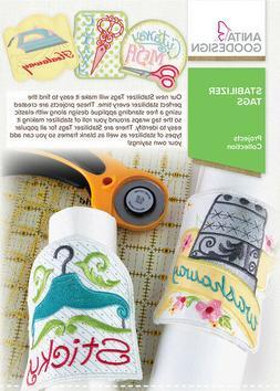 Anita Goodesign Stabilizer Tags Machine Designs CD