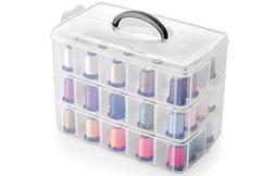 Bins & Things Stackable Storage Container with 30 Adjustable