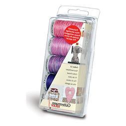Gutermann Thread Set: Machine Embroidery Cotton 12 - Berry