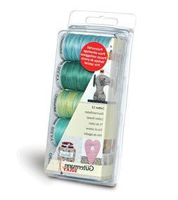 Gutermann Thread Set: Machine Embroidery Cotton 12 - Aqua