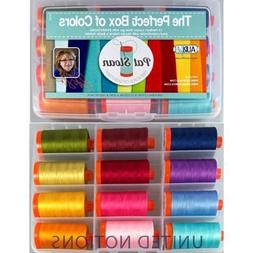 Aurifil Thread Set THE PERFECT BOX OF COLORS By Pat Sloan 50