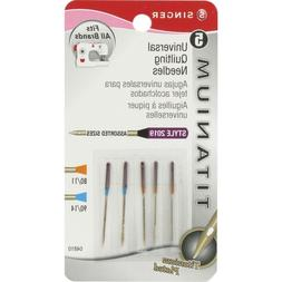 Singer Titanium Universal Quilting Machine Needles, Assorted