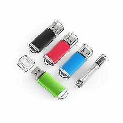 TOPSELL 5 Pack 2GB USB 2.0 Flash Drive Memory Stick Thumb Dr