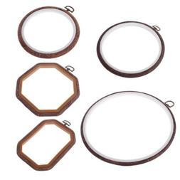 Wooden DIY Cross Stitch Machine Embroidery Hoop Ring Hand Se