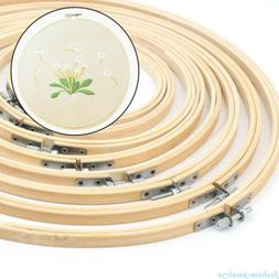 Wooden Frame Cross Stitch Machine Embroidery Hoop Ring Bambo